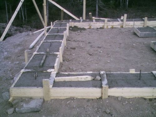 plans how to build concrete cement basement footings garage house shed
