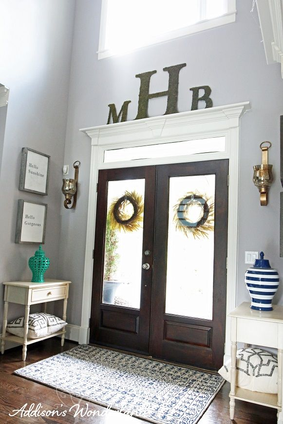 our statement making foyer tour - Entryway Decor