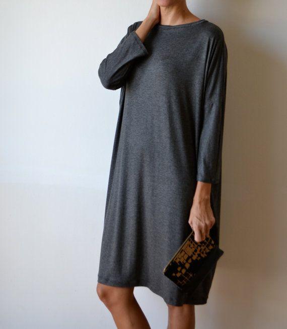Loose slouchy dress. Boho loose dress. Long t shirt от MuguetMilan