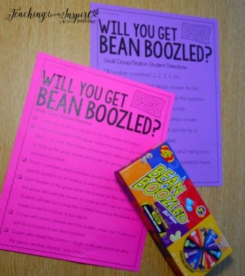 The crazy engaging game Bean Boozled can also be used in the classroom. We use Bean Boozled as an engaging test prep review. This can be used for any subject or skill. Grab some free printables on this post to try this game out.