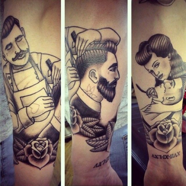 "Tattoo Designs Gents: ""True Gents And Rockabilly Barbering. Repost Via"