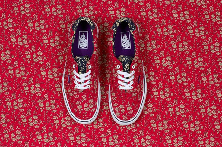 Vans made from Liberty of London fabric