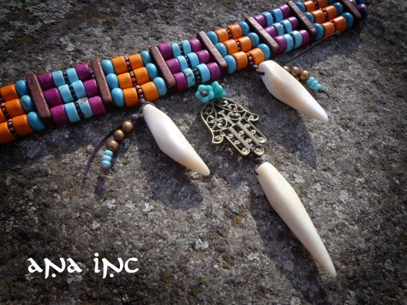 Animal Tooth Necklace With Natural Coyote Teeth By Boskybelle