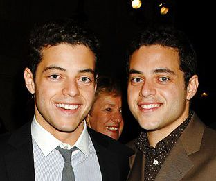 When cuteness has a twin - Rami Malek (and twin Sami )-  Upcoming in USA's Mr Robot