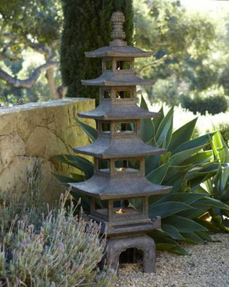 Garden And Lawn , Zen Garden Decoration Ideas With Garden Pagoda : Garden Decoration Ideas With Outdoor Pagoda