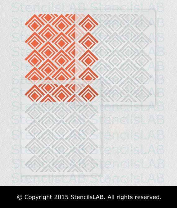 Die besten 25+ geometrische Schablone Ideen auf Pinterest - dekorative geometrische muster interieur