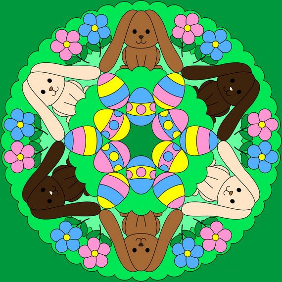 Unique Spring and Easter Holiday Adult Coloring Pages Designs