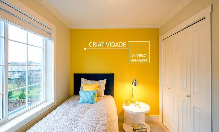 Cor de parede Amarelo bandeira Suvinil Renovação do  ~ Tintas Suvinil Cores Para Quarto Masculino