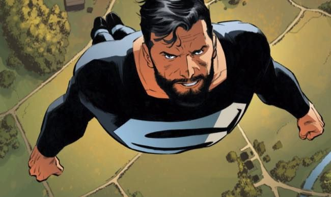Is Cavill Teasing Superman's Black Suit in New Justice League Pic - http://www.entertainmentbuddha.com/is-cavill-teasing-supermans-black-suit-in-new-justice-league-pic/