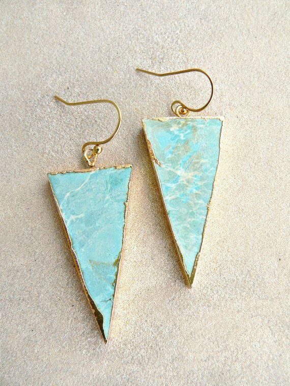 Larimar Triangle Earrings   Kattilac pinterest   @tallulahmercer