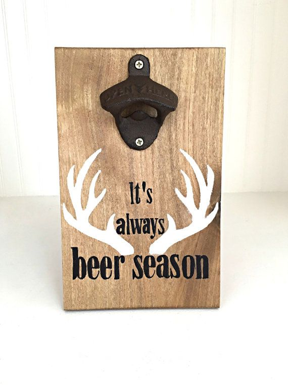 Beer bottle opener wall mounted bottle by HarlowDionneDesigns