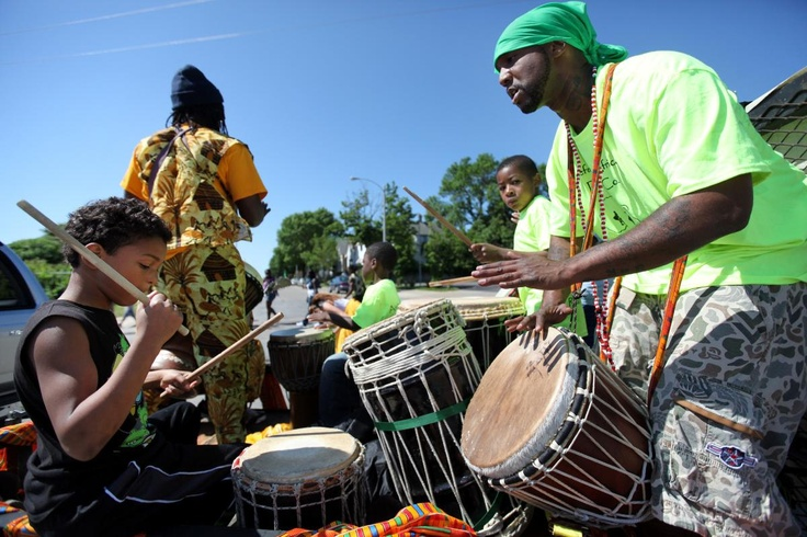 From JSO  Photo Gallery:  Juneteenth Day celebration My 10yr old drumming :)!!