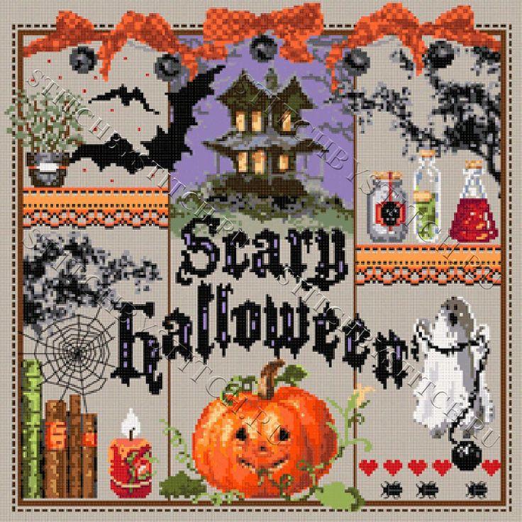 """Схема для вышивания Madame La Fee """"Scary Halloween"""" (""""Страшный Хэллоуин"""")"""