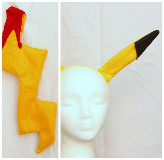 $30? A cute set of pikachu tail and ears headband. The pokemon tail has safety pin and a clip attached to it to easily add it to any clothing. The Pikachu