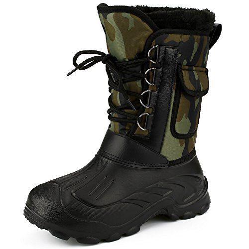 Sibba Bottes de Neige/Pluie Hommes, Bottes Hommes, Boots, Couleur Militaire (Vert, 42): MATERIAL: Chaussures EVA et semelle – ultra…