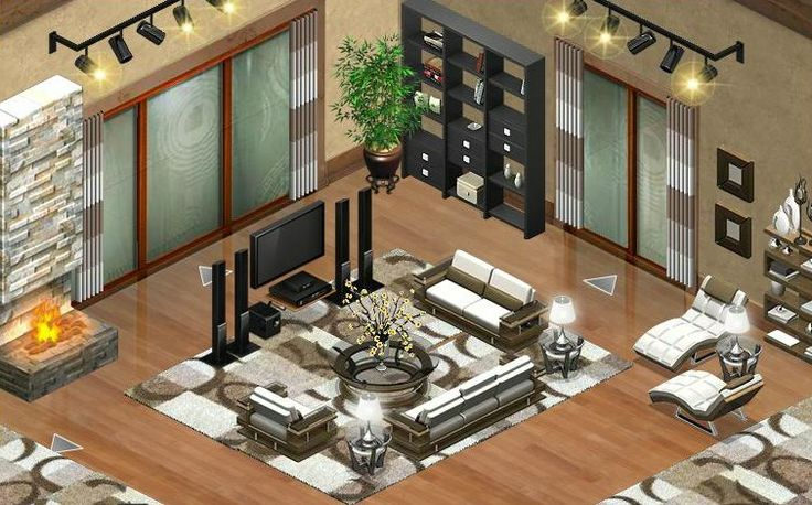 Beverly hills living room my yoville yoworld for Home design ideas facebook
