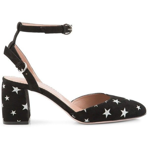RED VALENTINO Shoe Pump With Stars ($400) ❤ liked on Polyvore featuring shoes, pumps, valentino shoes, valentino pumps, star pumps and star shoes