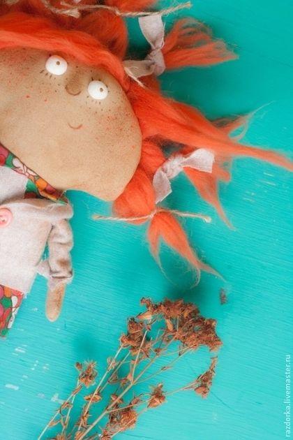 """Fabric doll / Ароматизированные куклы ручной работы. Ярмарка Мастеров - ручная работа. Купить """"Морковка"""" интерьерная кукла. Handmade. Рыжий, смешная кукла"""