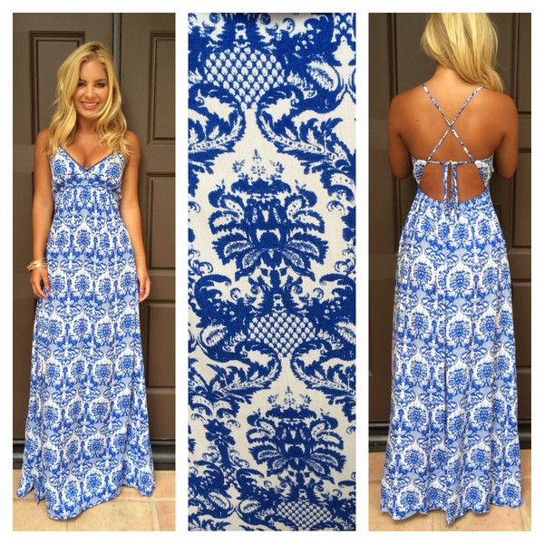 Summer backless maxi dress. I want this!