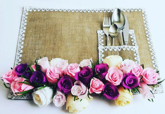 Pink Purple GARLAND RUSTIC decorations wedding by moniaflowers