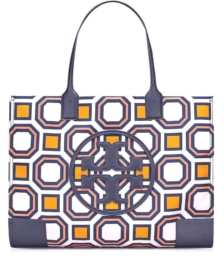 bb897997f93c Tory Burch Ella Octagon Square Print Nylon Tote Bag  leather  handbags diy