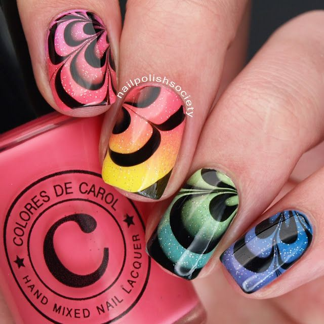 Best Nail Polishes For Water Marble To Bend Light
