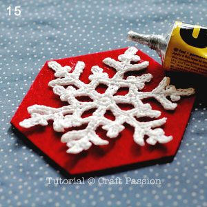 free crocheted snowflake pattern (make coaster or stiffen and hang on tree)
