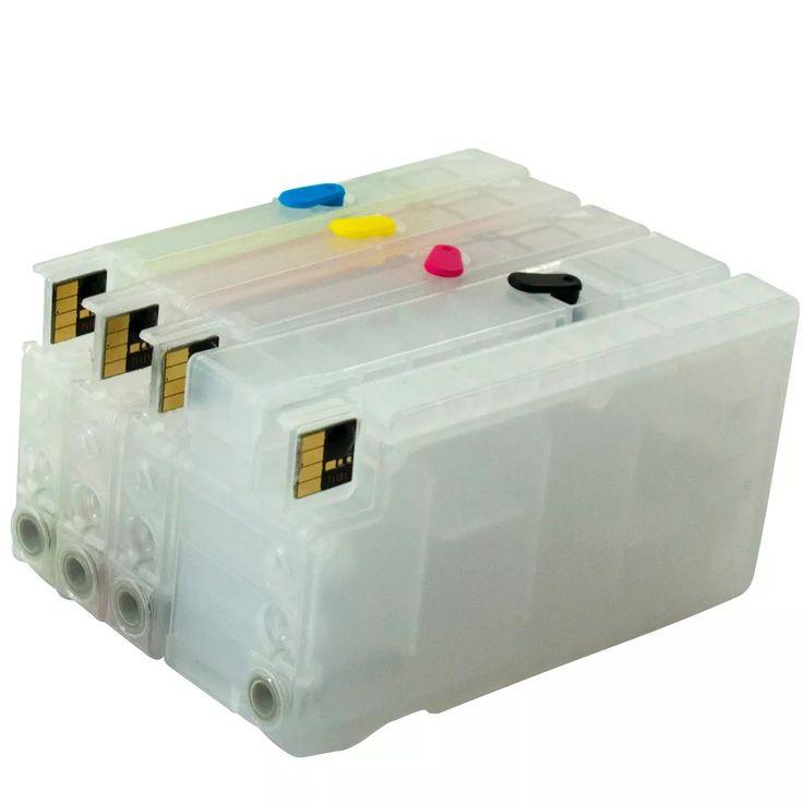 Cartucho Recarregavel Hp T520 T120 711 Chip + 4 Litros Tinta - R$ 694,80 em Mercado Livre