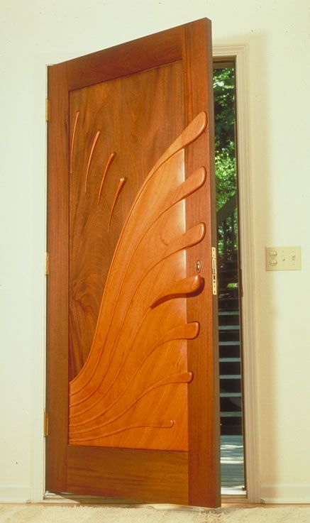 sculpted door by Sabiha Mujtaba