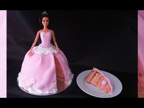 Step by step tutorial for how to make a princess cake using fondant.  For cake & syrup & royal icing recipes: http://www.howtocookthat.net/public_html/how-to-make-a-princess-cake-using-fondant  Your little girl will love this princess barbie cake for her birthday.    How to Cook That has step by step video tutorials for yummy desserts, macarons, cup...