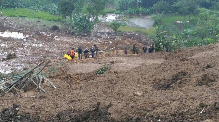 Permudah Pencarian Korban Longsor Gunung Bonjot, Tim Gabungan Turunkan Anjing Pelacak