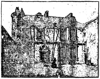 Hôtel dit d'Anne de Pisseleu d'après Narcisse Berchère, principale façade vers 1885.- A la cour Anne doit compter sur une nouvelle: Diane de Poitiers, maîtresse du dauphin Henri. Diane, catholique, est soutenue par les Guise et Anne, adhérente aux idées de la Réforme, est soutenue par les protestants. Malheureusement pour la duchesse d'Etampes, à partir de 1539, elle ne fut plus pour le roi qu'une garde-malade. En 1547 à la mort du roi, elle se retira dans l'isolement et l'obscurité