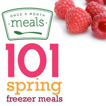 Gives many links to freezer meal ideas - 101 Spring Freezer Meals | Once A Month Meals | Freezer Meals | Freezer Cooking
