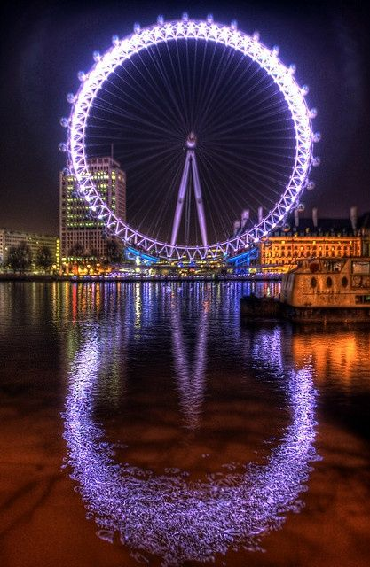 The London Eye...both eyes actually....Beautiful Reflection... - Double click on the photo to Design & Sell a #travel guide to #London www.guidora.com