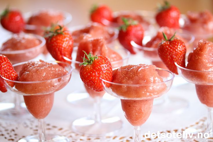 Strawberry Champagne Sorbet
