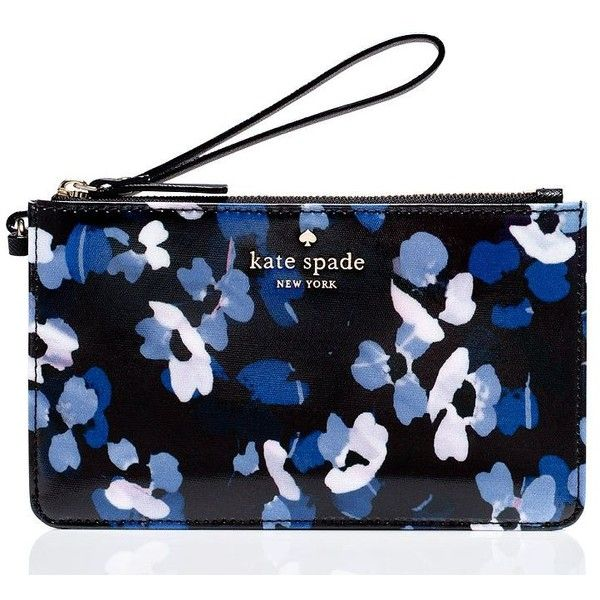 Kate Spade Cedar Street Floral Slim Bee found on Polyvore featuring bags, handbags, clutches, floral purse, wristlet purse, wristlet clutches, floral handbags and wristlet handbags