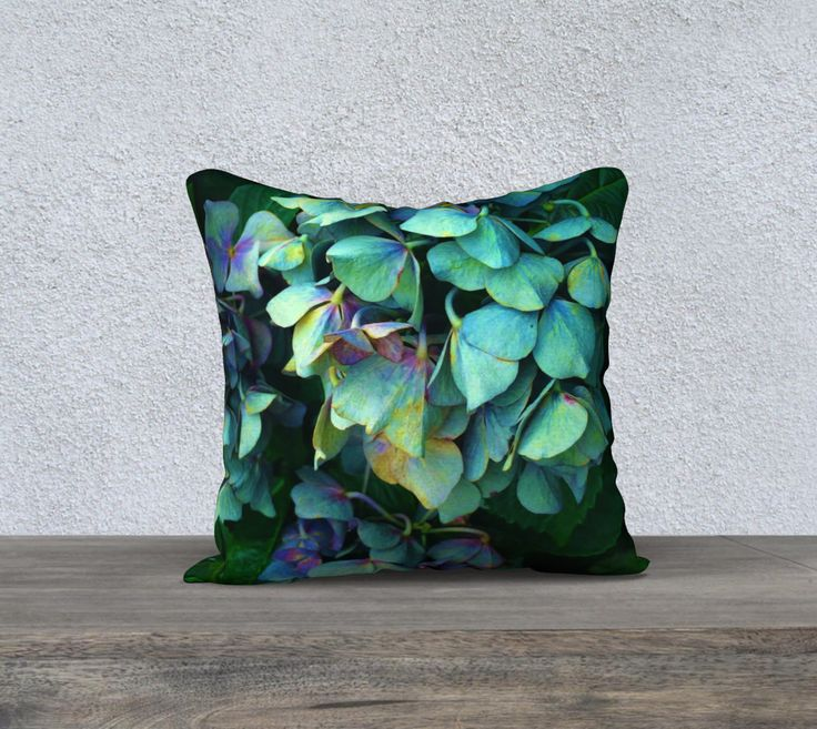 """18""""+x+18""""+pillow+""""Treasure+of+Nature+VII""""+by+Mixed+Imagery"""