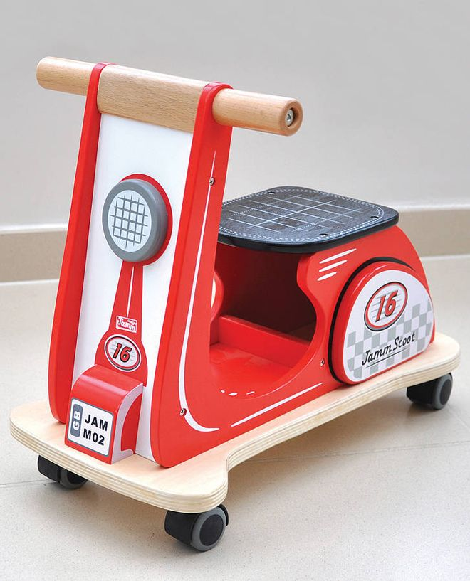 Children's wooden ride-on toy by Jammtoys, as featured on Bobby Rabbit