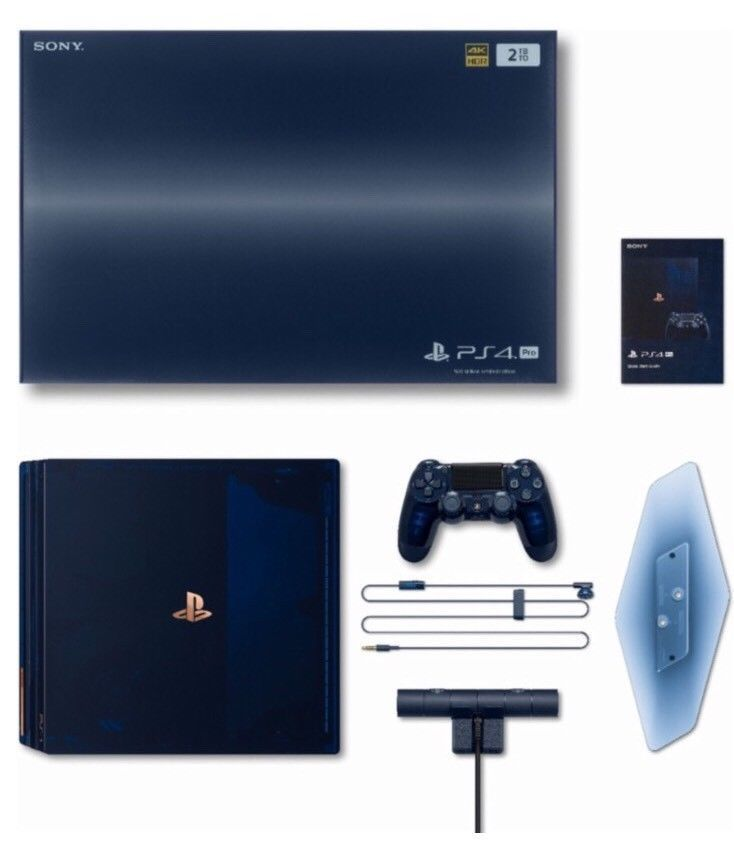 Playstation 4 Ps4 Pro 500 Million Limited Edition Sold Out Ps4 Console Ps4 Pro Ps4