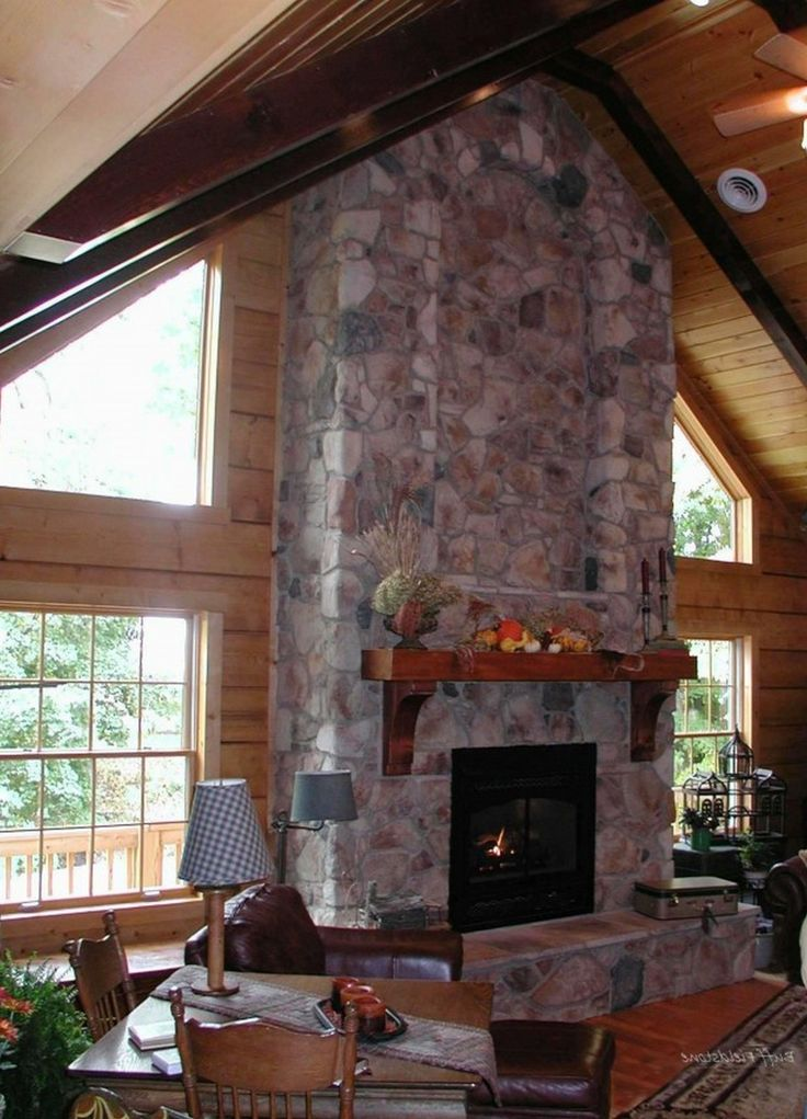 33 best images about fireplaces on pinterest wood mantel - Stone fireplace surround ideas ...