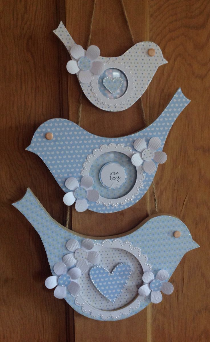 Bird wall hanging designed by Julie Hickey using Jacob papers.