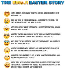 emoji easter story for kids printable