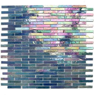 Gorgeous teal irridescent glass tiles.  Tons of colors to choose from.