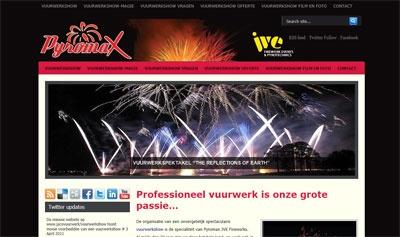 Website gebouwd voor Pyromax, ontwerp door Frouin Designs.