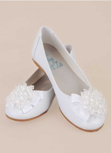 Anna Shoes | White Shoes for Girls First Communion or Baptism