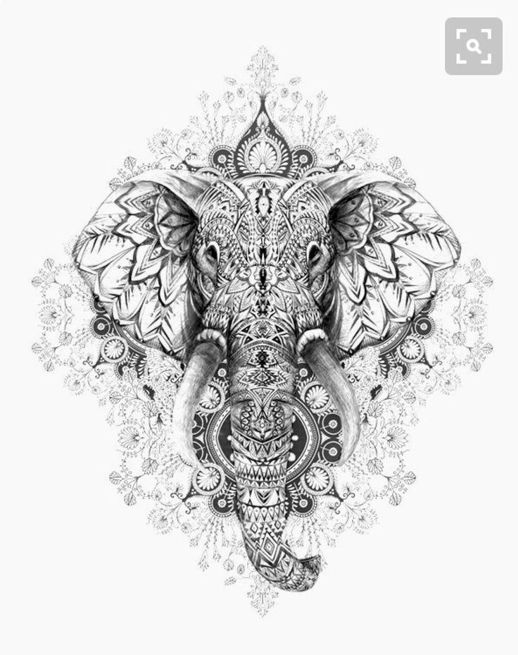 die 25 besten ideen zu mandala elefant auf pinterest. Black Bedroom Furniture Sets. Home Design Ideas