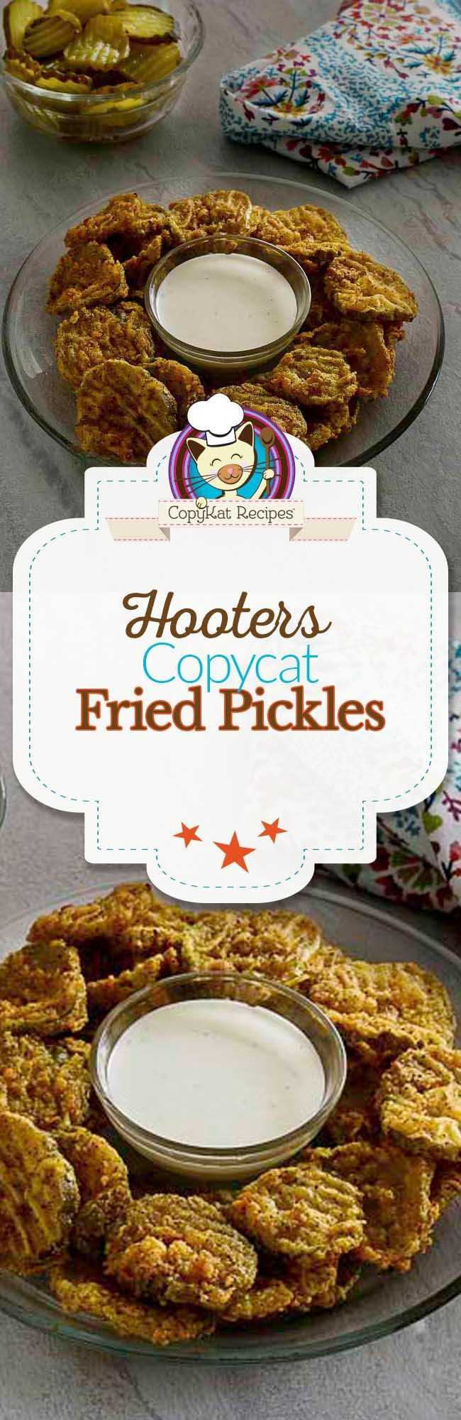 Make Hooters Fried Pickles at home with this easy copycat recipe.   People say these taste just like the real ones.