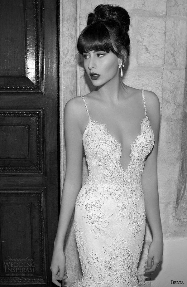berta bridal edition 2014 mermaid wedding dress straps close up