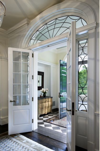 beautiful doors and leaded glass