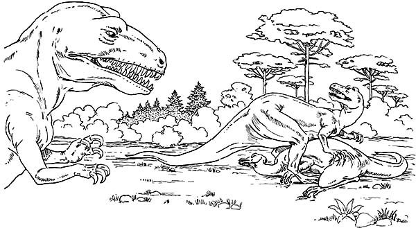 Allosaurus Allosaurus Eat Camptosaurus Coloring Page Dinosaur Coloring Pages Lego Coloring Pages Coloring Pages